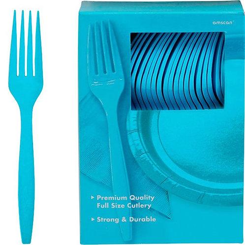 Turquoise Plastic Forks