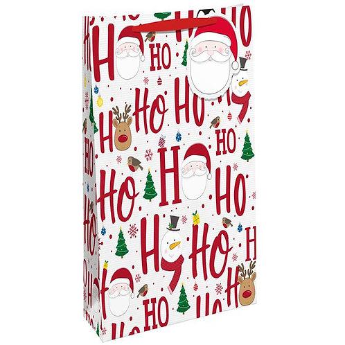 Ho Ho Ho Bottle Gift Bag