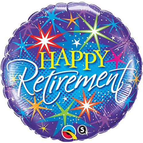 Happy Retirement Colourful Foil Balloon