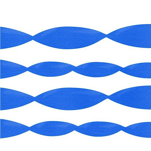 Blue Crepe Paper Streamer