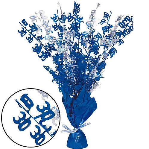 30th Birthday Party Blue Foil Table Centrepiece Decoration