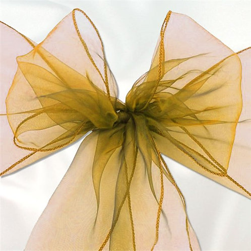 Organza Chair Sashes - Different Colours Available
