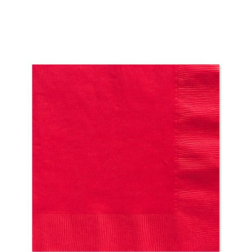 Red Paper Napkins Size 25cm