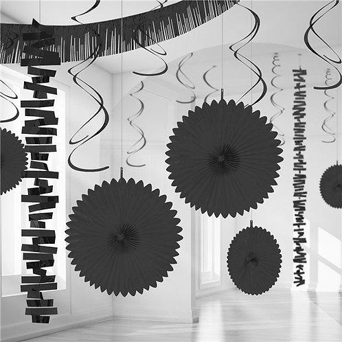 Black Party Decorating Kit