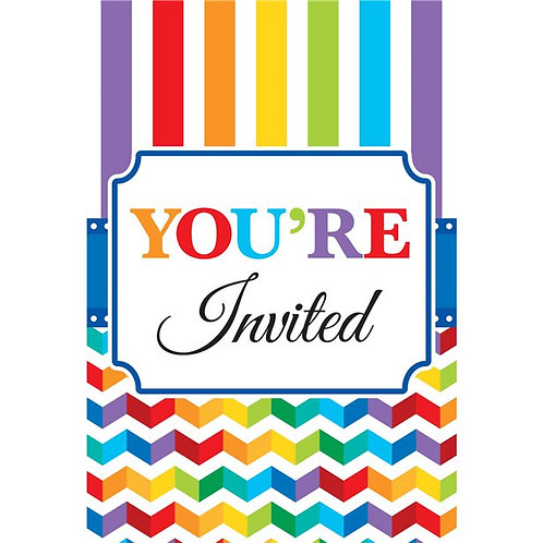 Party Invites - Party Invitation Cards. Pack Of 20.