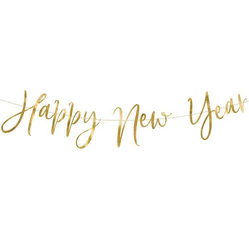 New Year Gold Foil Letter Banner
