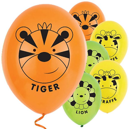 Jungle Animal Friends Latex Balloons