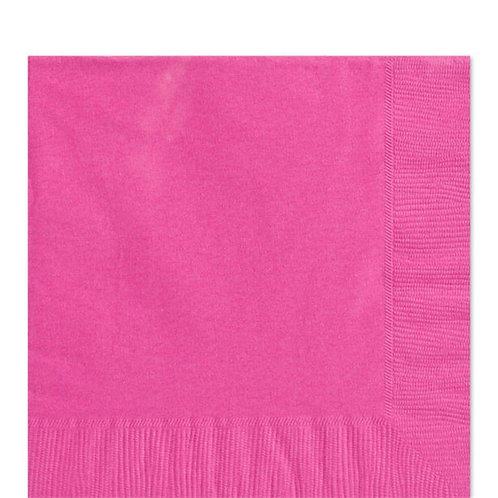 Hot Pink Party Napkins Size 33cm