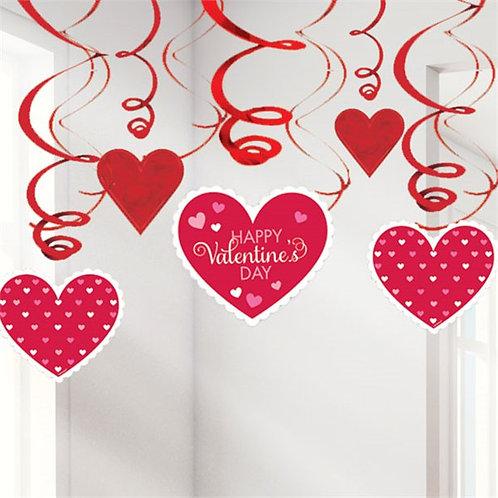 Valentines Day Hanging Swirls