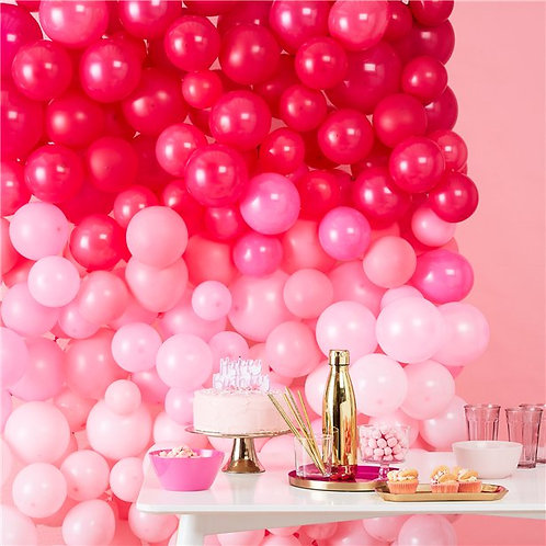 Pink Ombre Balloon Wall
