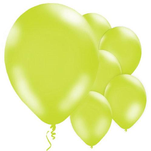"Lime Green 11"" Latex Balloons"