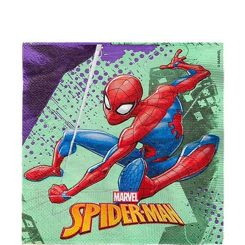 Children's Party Spiderman Paper Napkins