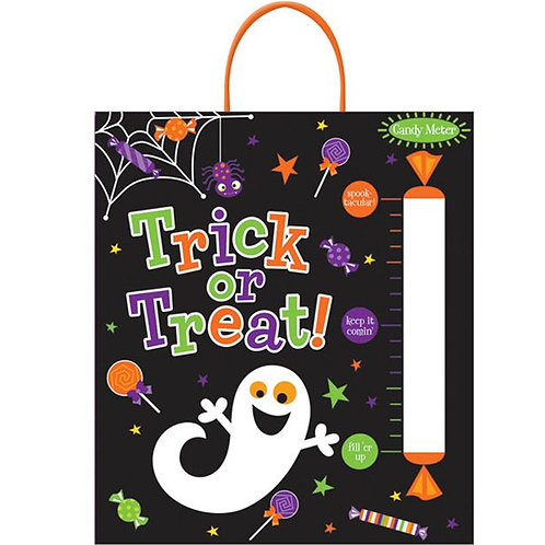 Halloween Trick or Treat Bag with Candy Meter