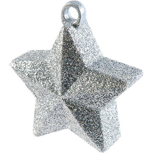 Silver Glitter Star Balloon Weight
