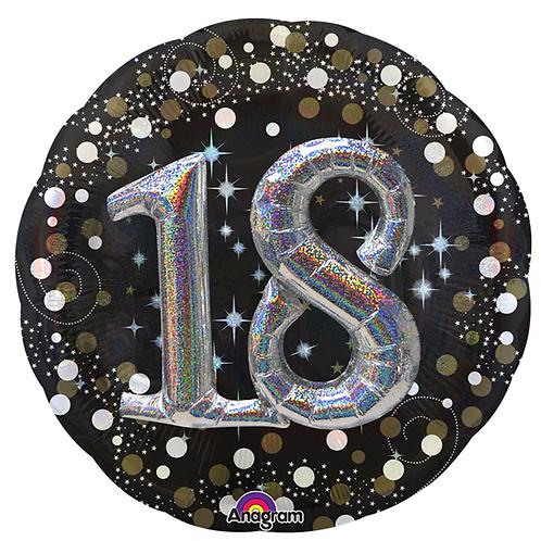 18th Birthday 3D Foil Balloon