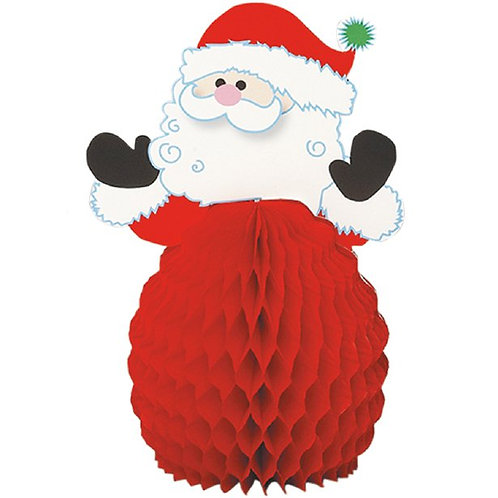 Santa Mini Honeycomb Decorations