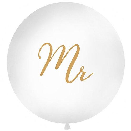 Gold Mr Giant Latex Balloon