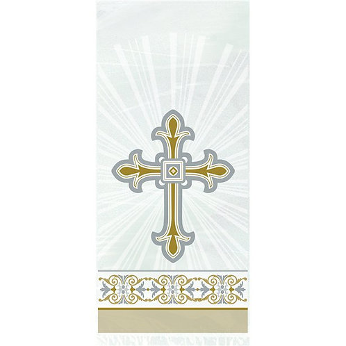 Silver And Gold Cross Cello Party Bags