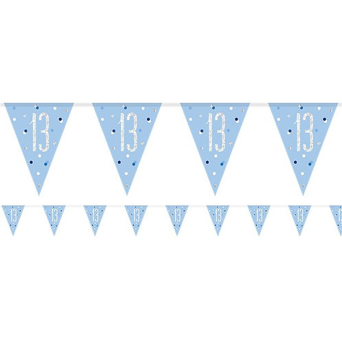 13th Flag Bunting Banner Blue