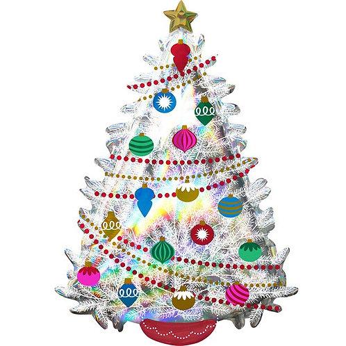 Christmas Iridescent Tree Shape Foil Balloon