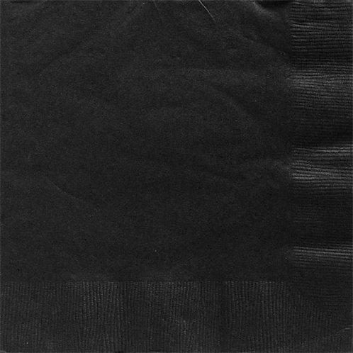 Black Paper Napkins 40cm