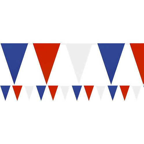 Red White & Blue Plastic Bunting