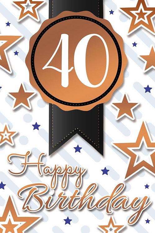Age 40 Birthday Card