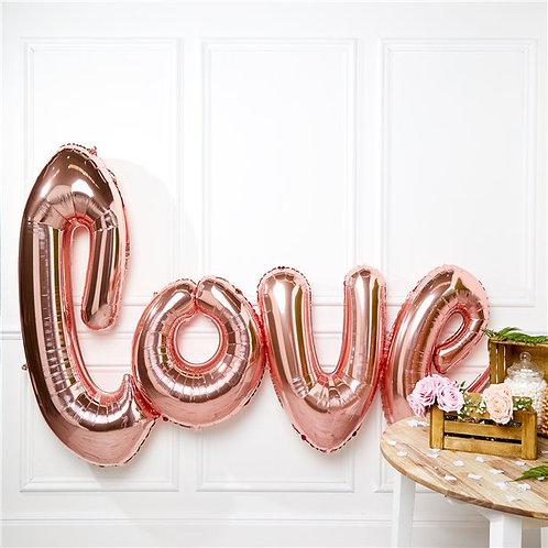 Giant Rose Gold Love Foil Balloon
