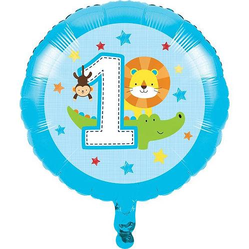Age 1 Fun Blue Boy Foil Balloon