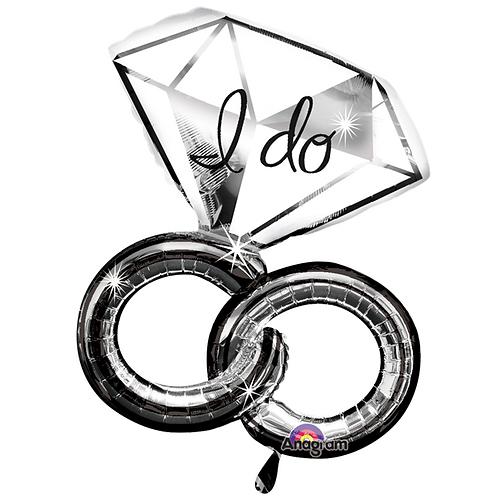 I Do Wedding Rings Foil Balloon
