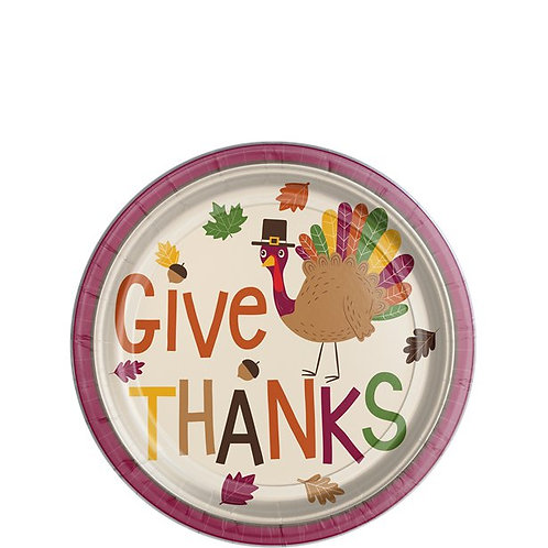 Thanksgiving Gobble Gobble Dessert Plates
