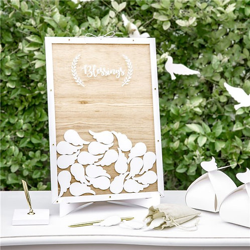 Blessings Guest Book Wooden Frame