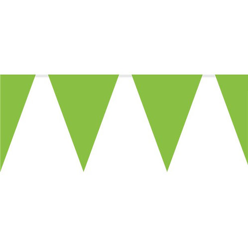 Green Plastic Party Bunting