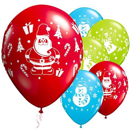 Christmas Snowman, Penguin & Santa Festive Balloons