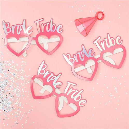 Bride Tribe Hen Party Fun Glasses