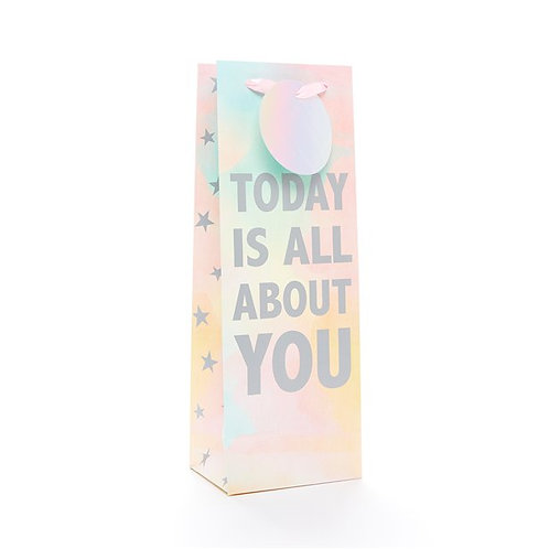 Today Is All About You Bottle Gift Bag