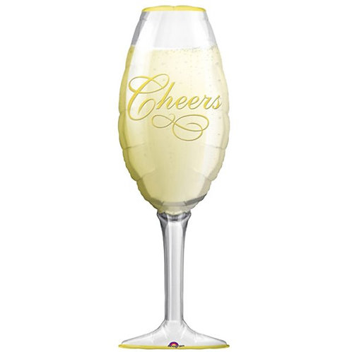 Champagne Glass Foil Balloon