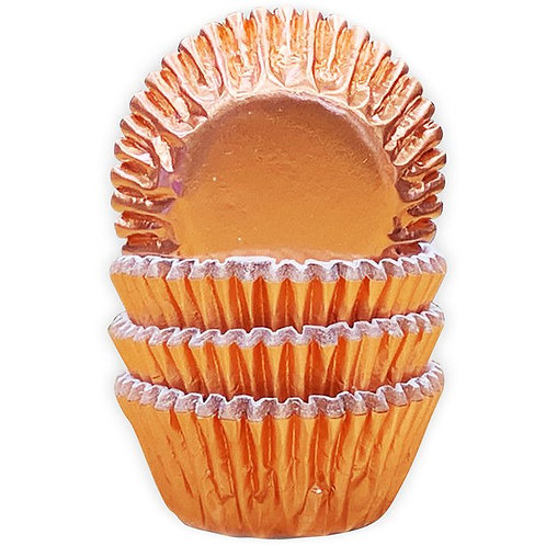 Rose Gold Foil Mini Cake Cases