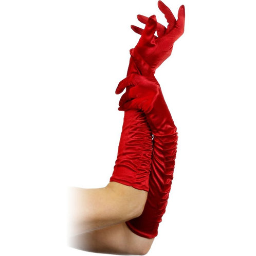 Fancy Dress Long Red Temptress Gloves