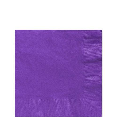Purple Paper Napkins Size 25cm