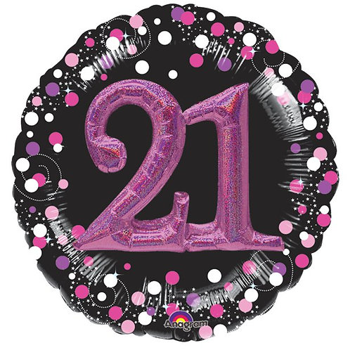 21st Pink Sparkling Celebration 3D Foil Balloon