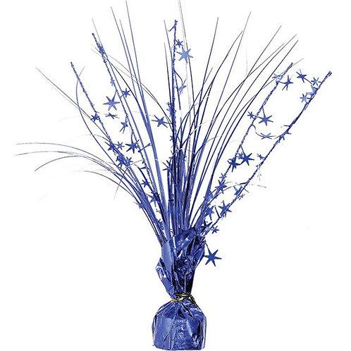 Foil Spray Table Centrepiece Blue
