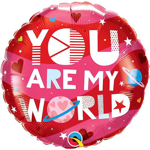 You Are My World Balloon
