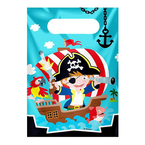 Pirate Party Bags. Pack Of 8