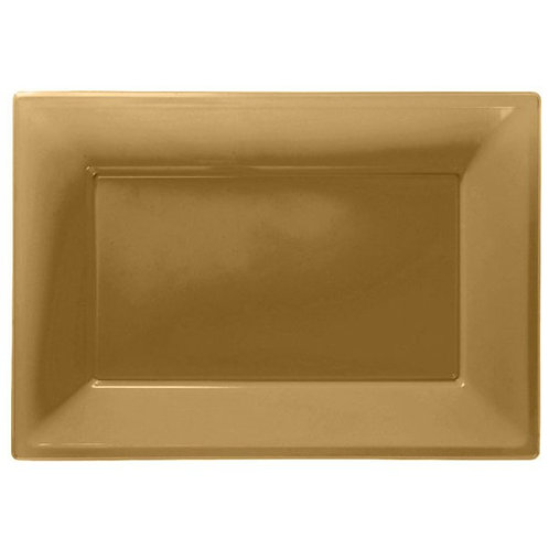 Food Serving Platter - Gold