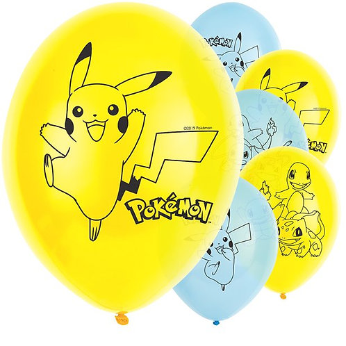 Pokemon Latex Balloons