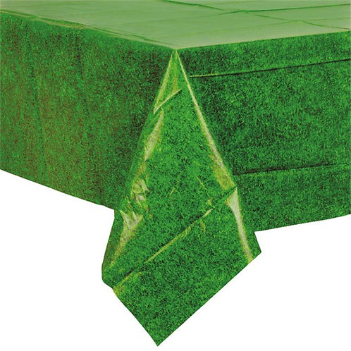 Football Green Grass Plastic Party Tablecover