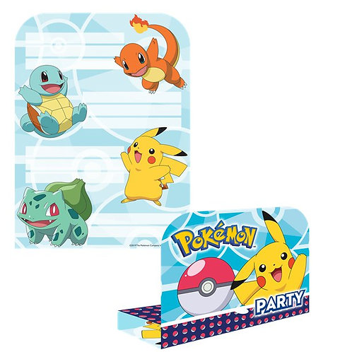Pokemon Party Invitations And Envelopes