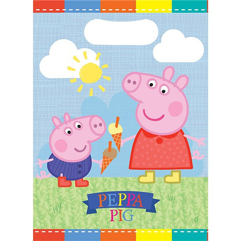 Children's Peppa And George Party Bags. Pack Of 8