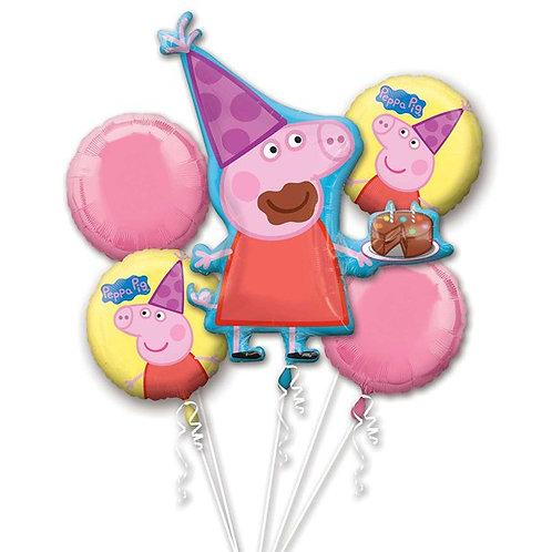 Children's Peppa Pig Bouquet - Assorted Balloons